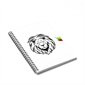 Bulgarian Lion Spiral Notebook – Ruled Line