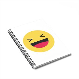 Haha Emojy White Spiral Notebook – Ruled Line
