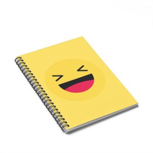 Haha Emojy Black Yellow Notebook – Ruled Line