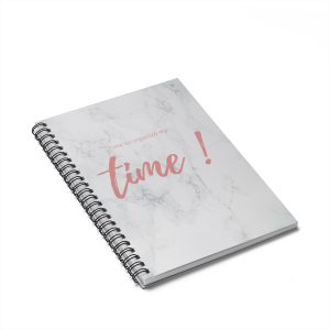 It's Time  Notebook – Ruled Line
