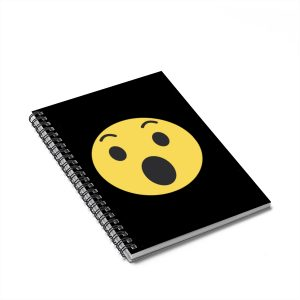 Wow Emojy Spiral Notebook Black