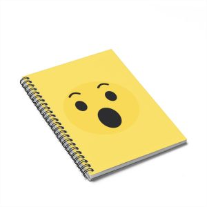 Wow Emojy Spiral Notebook Yellow – Ruled Line