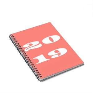 2019 Living Coral Notebook – Ruled Line