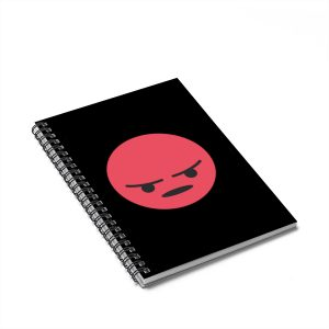 Angry Emojy Black Notebook