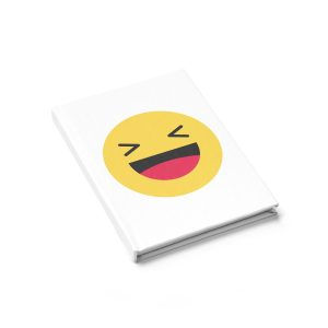 Haha Emojy White Journal – Ruled Line