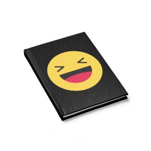 Haha Emojy Black Journal – Ruled Line