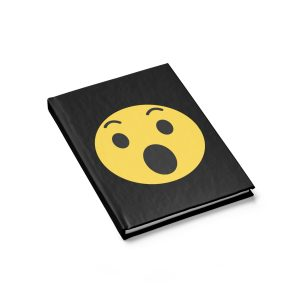 Wow Emojy Black Journal – Ruled Line