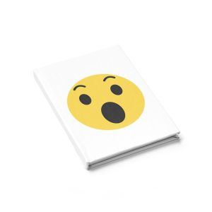 Wow Emojy White Journal – Ruled Line