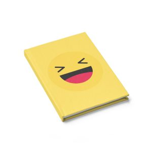 Haha Emojy Yellow Journal – Ruled Line