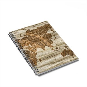 Asia & Australia Vintage Style Map Spiral Notebook