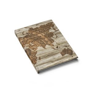 Vintage Style World Map Journal – Blank