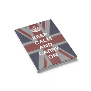 Keep Calm and Carry on Journal – Ruled Line